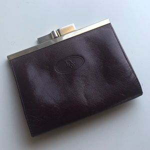 Dior vintage leather coin purse